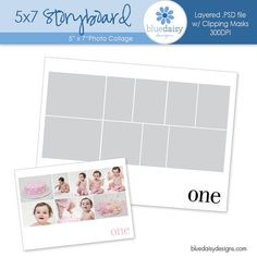 X Storyboard Collage Template X Psd By Doviescottphoto