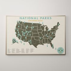 National Parks Map | Wall Artwork | Schoolhouse Electric Supply & Co.