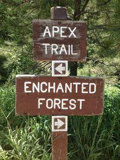 Apex Park Trail Signs