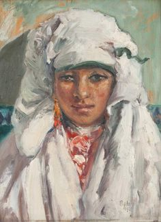 Henri Pontoy - Portrait de jeune marocaine