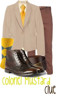 """""""Colonel Mustard"""" by jami1990 ❤ liked on Polyvore"""