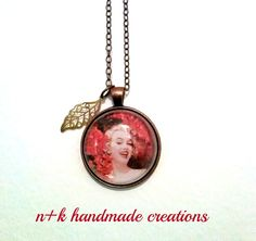 Handmade Marilyn Monroe glass pendant. by thenkcreations on Etsy