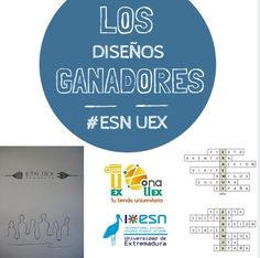 Diseños ganadores para realizar dos camisetas para nuestra Zona Erasmus