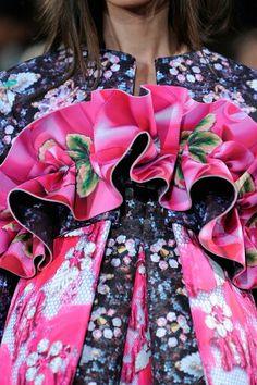 London #floral #fashion Mary Katrantzou Spring 2014
