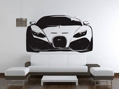 BUGATTI-VEYRON-Super-Sports-Car-Wall-Decal-Sticker-VE88