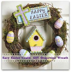 Striking Easter themed wreath decoration for kids to try out