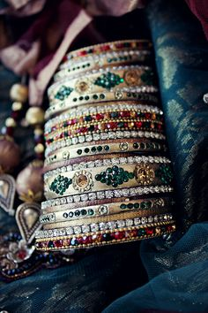 Bridal Bangles #bangles #indian #bridal #fashion #southasian #wedding more inspiration @ http://www.ModernRani.com