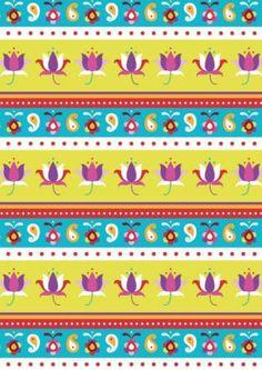 Diwali Scrapbook Paper Lotus