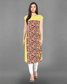Buy Multi Multicoloured Crepe Semi-Stitched Kurta for women Online  At Flash Sale   Styletag, India