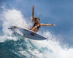 Alana Blanchard surfing