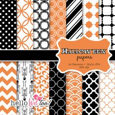 INSTANT DOWNLOAD Halloween digital paper collection