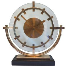 Vintage Art Deco Clocks | 1930's French Art Deco Eight Day Clock