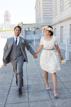 a584e40fd63 Just married. Flower crown. Love. Peonies. Ivory lace. San Francisco City