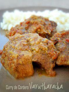 Curry de Cordero Varutharacha / Varutharacha Mutton Curry