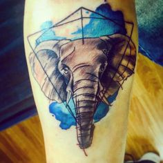 I love it!!Thanks Alex @santocuervotattoo #elephant #tattoo #watercolor #watercolortattoo #ink #santocuervotattoo #london #londontattoo #stepbystep #onmyway by robertrobinivan