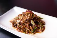 Mongolian Beef Served with your choice of Wonton, Egg drop, or Hot and Sour soup and White or brown rice.