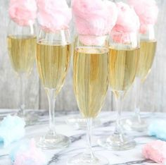 Champagne with cotton candy