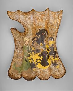 GERMANY | Tournament or Cavalry Shield, ca. 1450. German. The Metropolitan Museum of Art, New York. Gift of Mrs. Florence Blumenthal, 1925 (25.26.1) #WorldCup