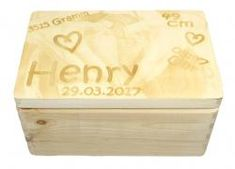 Erinnerungkiste Memories, Beautiful Gifts, Love Letters, Shoe Box, Second Child, Personalized Gifts, Wooden Crates, Memoirs, Souvenirs
