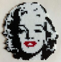 Marilyn Monroe made with hama beads.