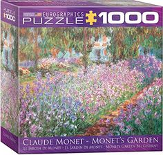 The Artists Garden by Claude Monet Puzzle 1000Piece -- More info could be found at the image url.Note:It is affiliate link to Amazon.