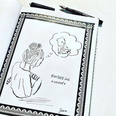 Day 13 #inktober2016 *worried* . ... mal sehen, ob der Teddy wieder auftaucht... .  #worried #teddy #girlillustration  #inking #drawing #drawingoftheday #drawingchallenge  #drawinginspiration #tinte #waterman #fountainpen #vintagefountainpen #edelsteinink #pelikan @inktober #sketchnotes #sketchnotesbydiana #germanbujojunkies