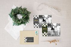 watercolor 2014 :: holiday photo card by little bit heart #holidaycards #holiday #christmascards