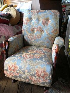 Antique rocking chair with swan arms.  Newly refurbished and reupholstered. $399  We ship. www.facebook.com/chicshackconsignmentfurnishings