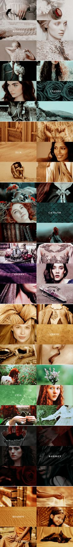 a song of ice and fire aesthetics: (pre-asoiaf) L A D I E S