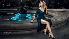 Polish Models, Fountain, Bodycon Dress, Hollywood, Photoshoot, Poses, Legs, Portrait, Elegant