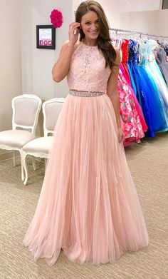 Gorgeous Two Piece Pink Long Prom Dress #prom #promdress #dress #eveningdress #evening #fashion #love #shopping #art #dress #women #mermaid #SEXY #SexyGirl #PromDresses