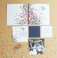 Invitations mariage festive et originale • Trendy Wedding, blog idées et inspirations mariage ♥ French Wedding Blog: {invitations} Parfaire son faire part