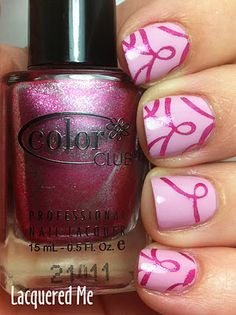 Breast Cancer Awareness Manicure Love It !