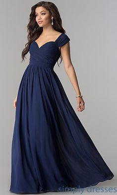 Ruched-Bodice Sweetheart Long Chiffon Formal Dress. Prom Dresses ... 5dd0ae6084b9