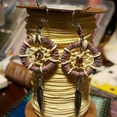 Handmade Light purple dream catcher by AutumnCuddleCreation