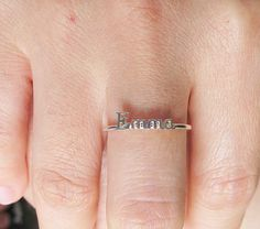 SALE 22% OFF Handcrafted Personalized Name Ring by Bestyle