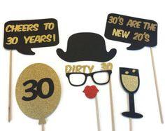 Photo Booth Props Dirty 30 Birthday 30th Birthday Birthday