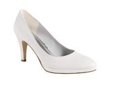 Hvid sko med høj hæl