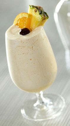West Indian colada cocktail.The addition of papaya adds a taste of the exotic to this delicious creamy,rum based cocktail. Delicious!!!