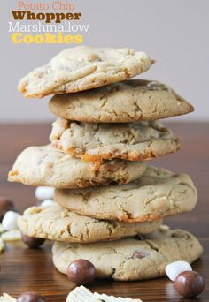 You KNOW I've got to try baking these!  Whopper, Potato Chip, Marshmallow Cookies from Confessions of a Cookbook Queen.