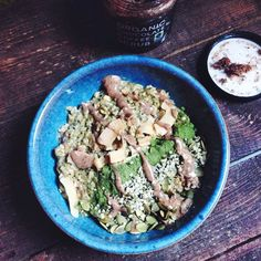 Today is @fairtuesday - a day to shop ethically sourced and made goods to change lives  Next time you're shopping, check out the labels and go for #fairtrade to support lives in communities whose lives depend on our small daily decisions. Brekkie today is matcha almond butter oatmeal with ethically sourced magical @moremoringa leaf, hemp hearts, pumpkin seeds , homemade almond mylk, coconut chips & a side of #fairtrade organic chocolate coffee - I don't drink coffee, so it's @organicbath's heavenly body scrub  ☕️ It's so delightful, I'm absolutely hooked! Would love you guys to check out your pantry and show me what fair trade goodies you have using hashtag #FairTuesday  #breakfastcriminals
