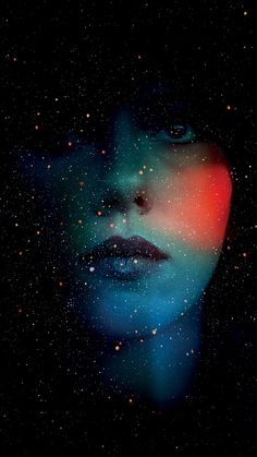 ↑↑TAP AND GET THE FREE APP! Space Art Abstract Face Woman Stars Ombre Multicolored Dark HD iPhone 5 Wallpaper