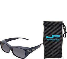 81c7f3d62f0ae Jonathan Paul Royale Fitover Sunglasses with Crushed Crystals
