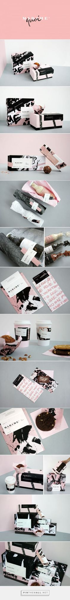 Food beverage packaging | branding | food branding | blush | pink | black | design | graphic design