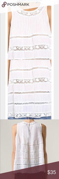 White lace tank White lace tank love sam Tops