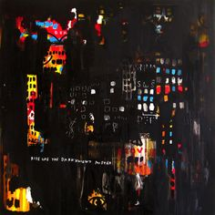 Warren Lewis - RISE LIKE THE DARK KNIGHT MISTER  Mixed medium on canvas  160cm x 160cm  For Sale
