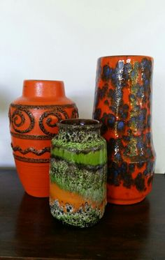 Fabulous colors of west german pottery~