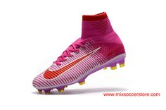 Nike Mercurial Superfly 5 FG Purple Red White Firm-Ground Football Boots
