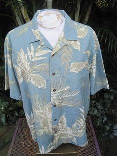 b8366745 HAWAIIAN Aloha SHIRT 2XL pit to pit 27 HAVANA JACK'S CAFE silk tropical  foliage #HavanaJacksCafe