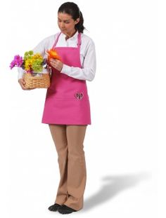 Hot Pink 3 Pocket Bib Apron comes with a 2 Piece neck Adjustment slider and 3 divisional pockets. The fabric is an ultra durable oz poly-cotton Twill protected with ProDura Stain Release Finish. Restaurant Aprons, White Apron, Bib Apron, Yellow Fashion, Kelly Green, Trade Show, Hunter Green, Classic White, Teal Yellow